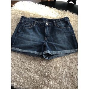 H&M Cuffed Hem Denim Shorts Size 12